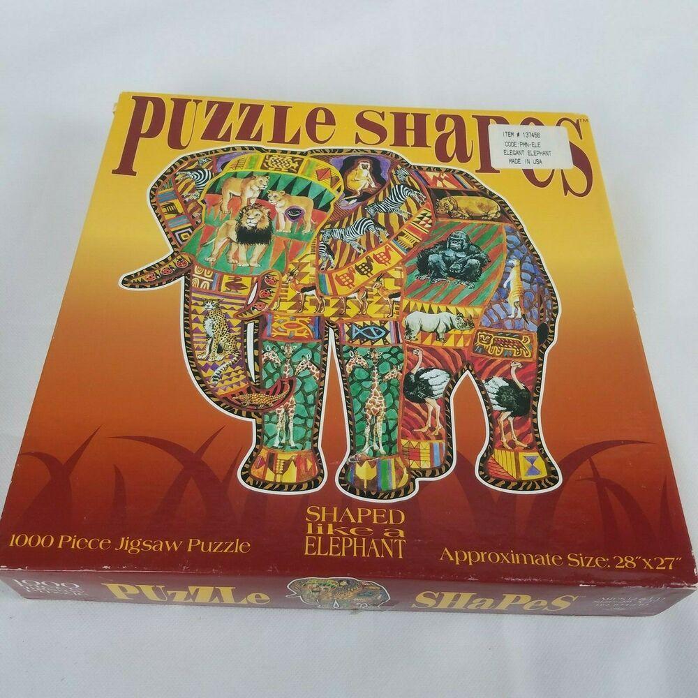 Puzzle Shapes Elegant Elephant Puzzle Ceaco