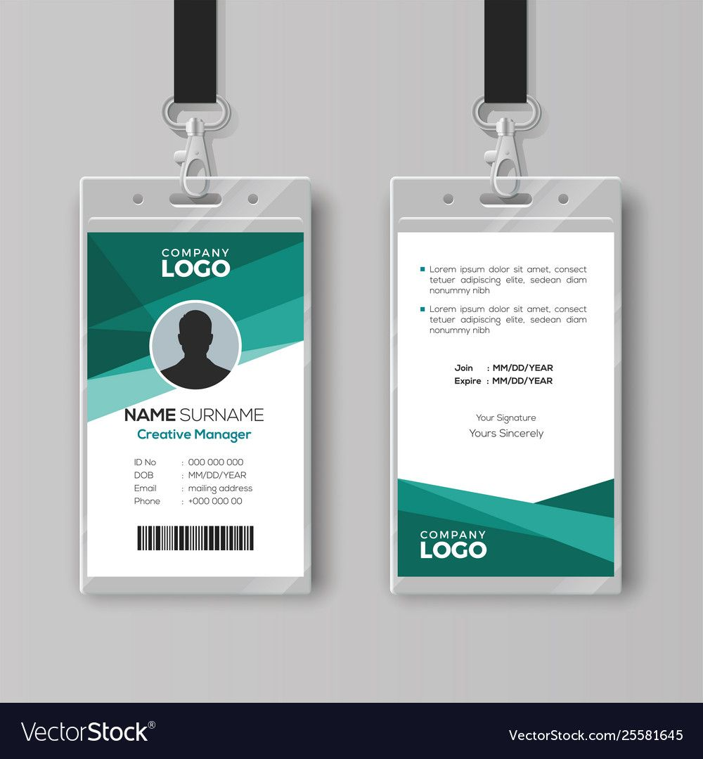 Elegant Id Card Design Template In Id Card Template Ai Sample Professional Template Id Card Template Business Card Template Word Free Business Card Templates