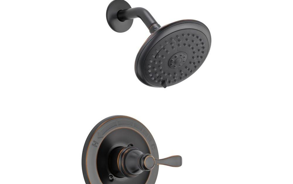 2 Handle Tub And Shower Faucet Delta Delta Porter Single Handle 3 Spray Tub And Shower Faucet In Oil Rubbed Bronze Valve In Tub Shower Faucets Shower Tub Shower Faucet