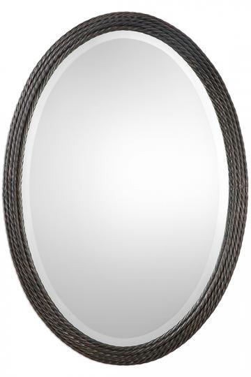 Larkin Wall Mirror - Oval Mirror - Decorative Mirror - Mantel Mirror ...