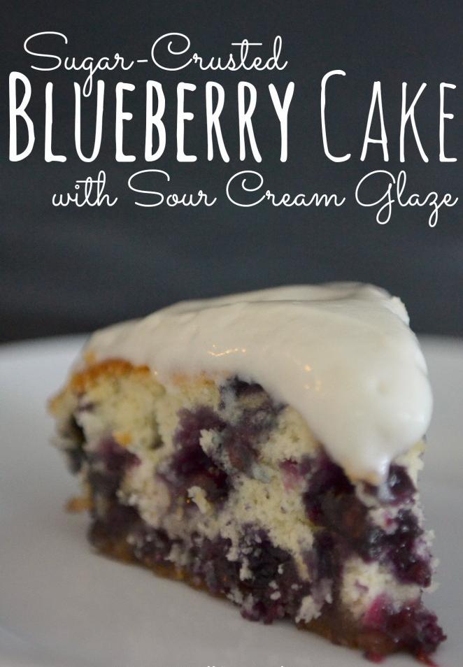 Blueberry Cake With A Sour Cream Glaze Living Well Spending Less Recipe Sour Cream Cake Desserts Blueberry Recipes