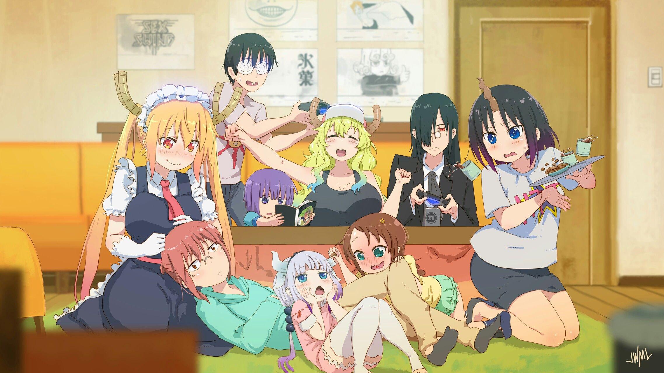 """Miss Kobayashi/'s Dragon Maid Kanna Kamui 36/"""" x 24/"""" Large Wall Poster Print Anime"""