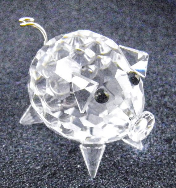 fec56c676 Swarovski Crystal Mini Pig Retired Faceted Clear by ThePickingPair, $27.00