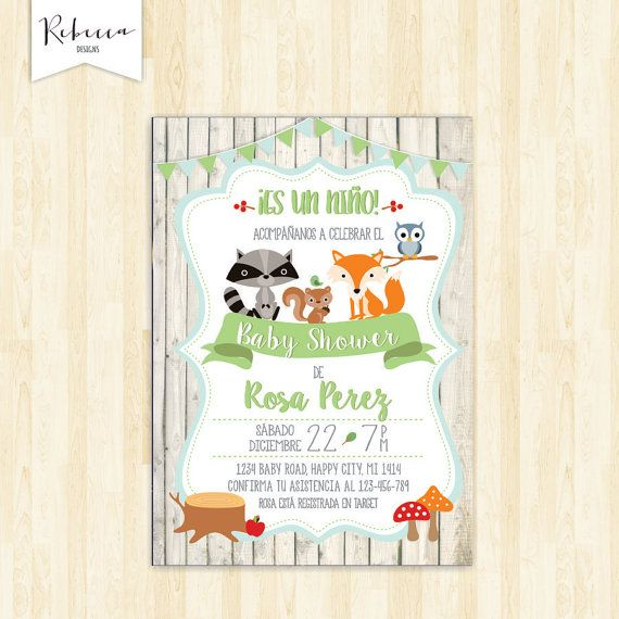 Invitacion Baby Shower Espanol Boy Baby Shower In Spanish Invite
