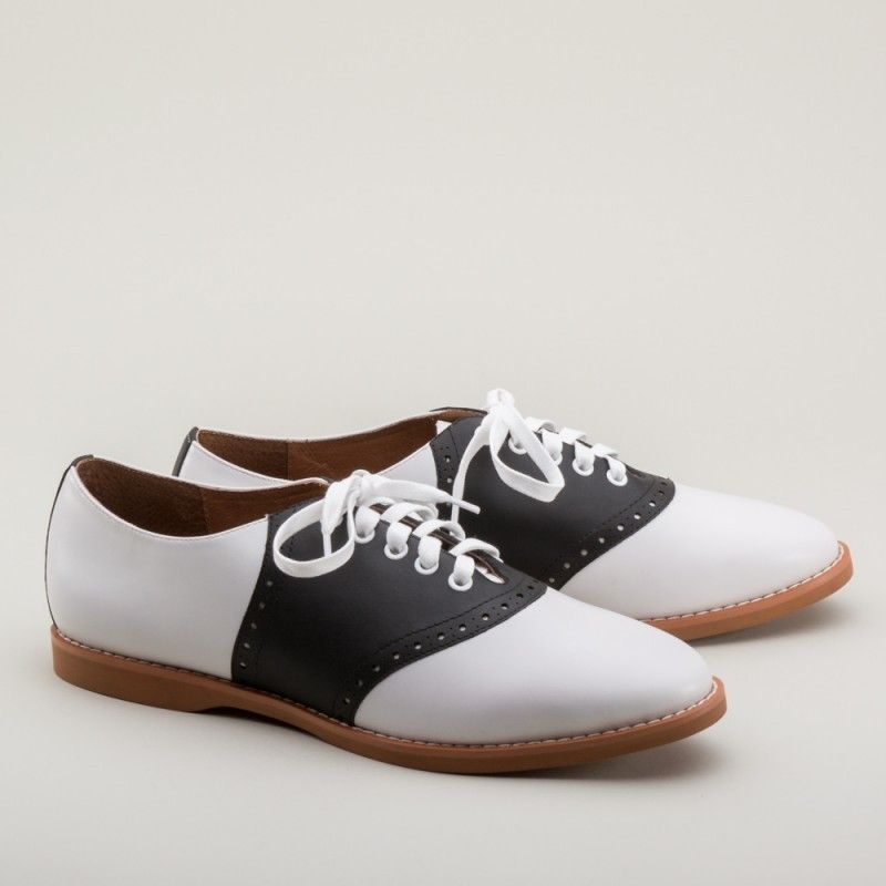 Susie Classic Saddle Shoes In Black White Sold Out Saddle Shoes Vintage Shoes Trending Shoes