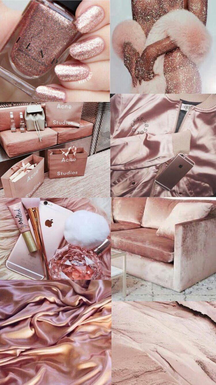 Rose Gold Pink Aesthetic Wallpaper