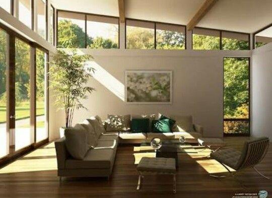 Ventanas en espacio con caida a 1 agua home casas campestres casas arquitectonico - Ovvio divano letto ...