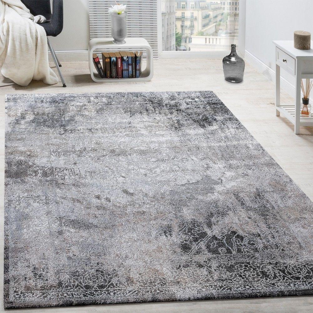 designer teppich wohnzimmer teppiche 3d edel shabby chick vintage graut ne in m bel wohnen. Black Bedroom Furniture Sets. Home Design Ideas