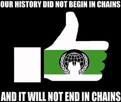 Anonymous our history did not begin in chains die cut vinyl sticker decal