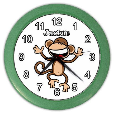 Bobby Jack Monkey Personalized Wall Clock Bedding By Bunglonstore 16 54 Personalized Wall Clock Personalized Wall Custom Wall Clocks