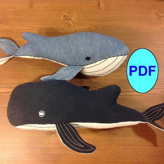 Stuff animal whale sewing pattern & tutorial Humpback Whales pattern ...