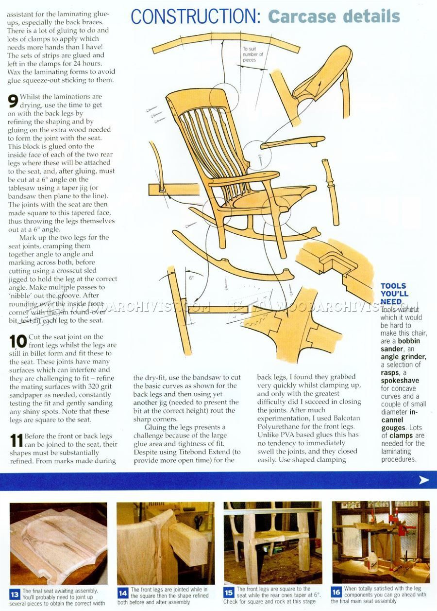 478 Classic Rocking Chair Plans Furniture Plans Chairclassic