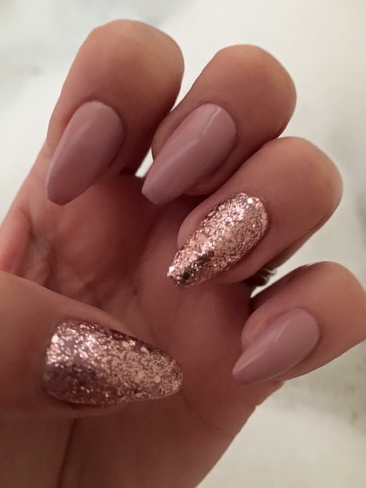 #mynails #ontrend #ballerina #coffinmails #blush #rosegold ...