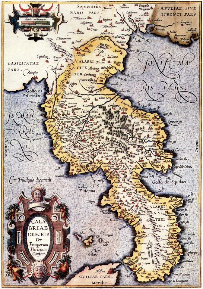 Old map of Calabria map Pinterest Italy Calabria italy and Italia