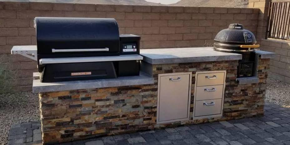 Of Las Vegas Nevada Built In Outdoor Grill Outdoor Kitchen Bbq Island