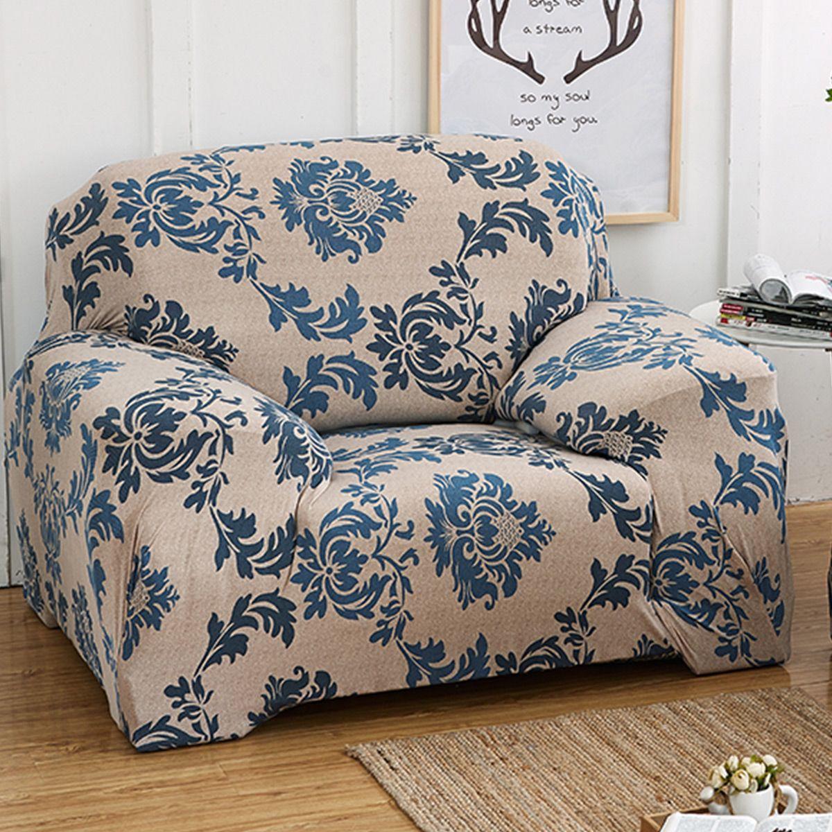 Stretch Fabric One Seater L Shape, TKOOFN Elastic Sofa ...