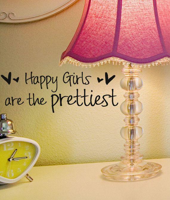 Happy Girls are the Prettiest 10 inch X 2 inch , audrey hepburn ...