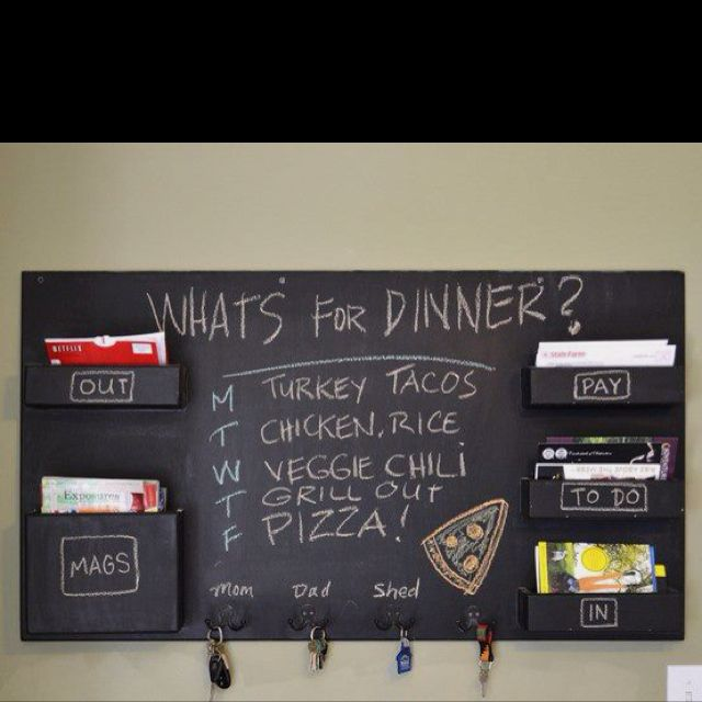 Awesome kitchen organization bills will be paid on time! And the kids won't ask what's for dinner!