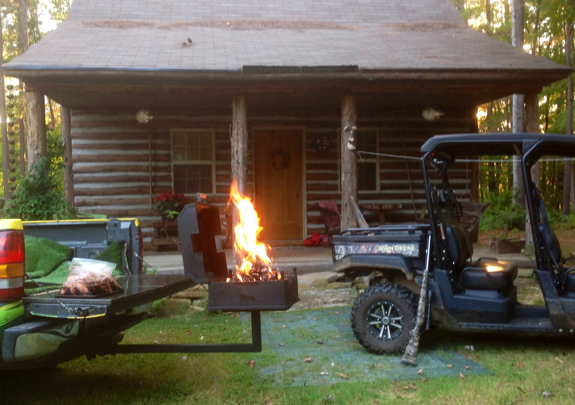 Buck Stove Charcoal Grill On A Trailer Hitch Mount Wood