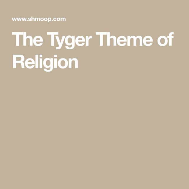 the tyger analysis line by line