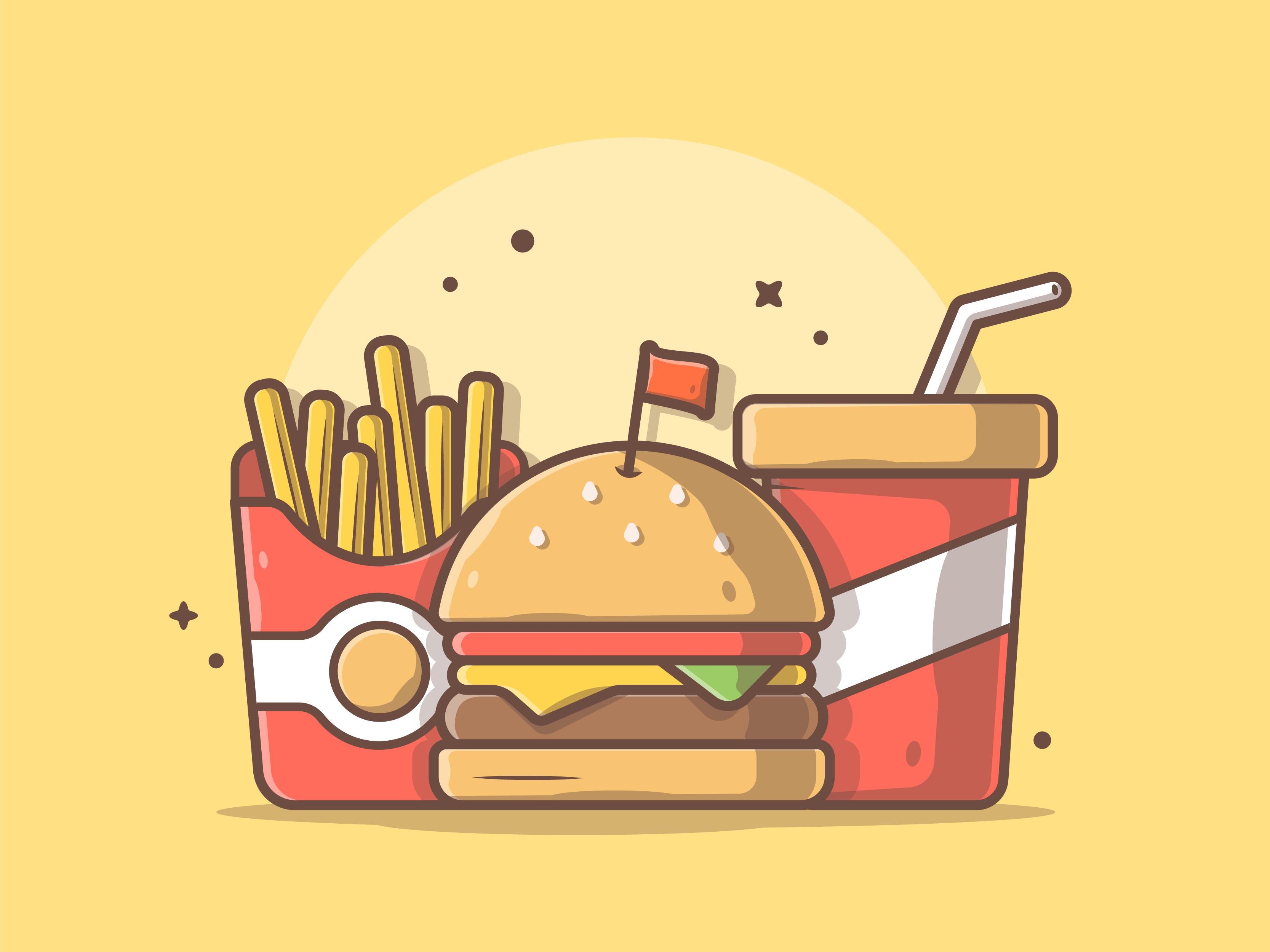 Kid Meals Cute Food Drawings Food Illustration Design Food Cartoon