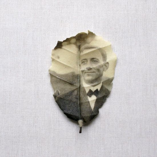 I saw this some time ago on Etsy. This shop prints your photo onto fabric leaf. I wondered if a collage of these with old family photos (one of each of us and one of mom and dad?) could be mounted into a shadow box. Not cheap, but could be lovely. Or if we can figure out how she makes the 'leaves', Kim and I may be able to print them ourselves....