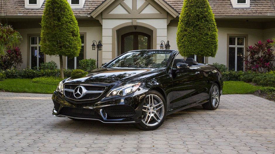 2016 Mercedes EClass Cabriolet in Black with fullLED