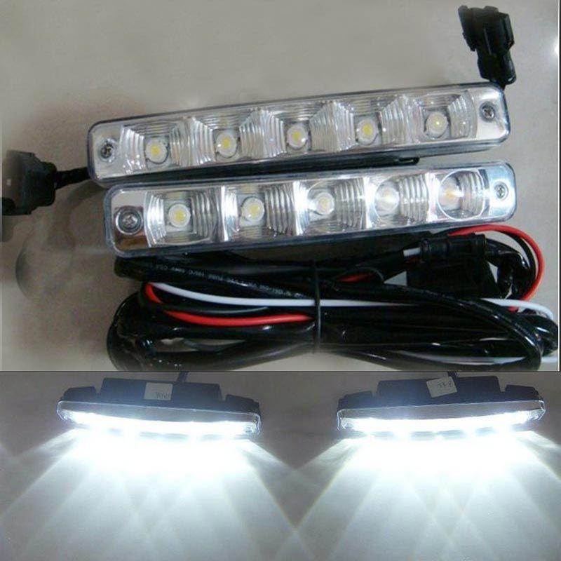 Free Shipping 10w 5led Car Led Daytime Running Light Drl Kit Day Driving Daylight Car Lights Running Lights Car Led