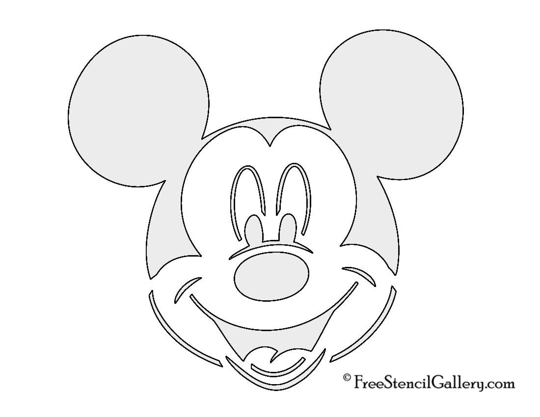 photograph regarding Mickey Mouse Pumpkin Stencils Printable named Free of charge Mickey Mouse Mickey Mouse Stencil Disney Mickey