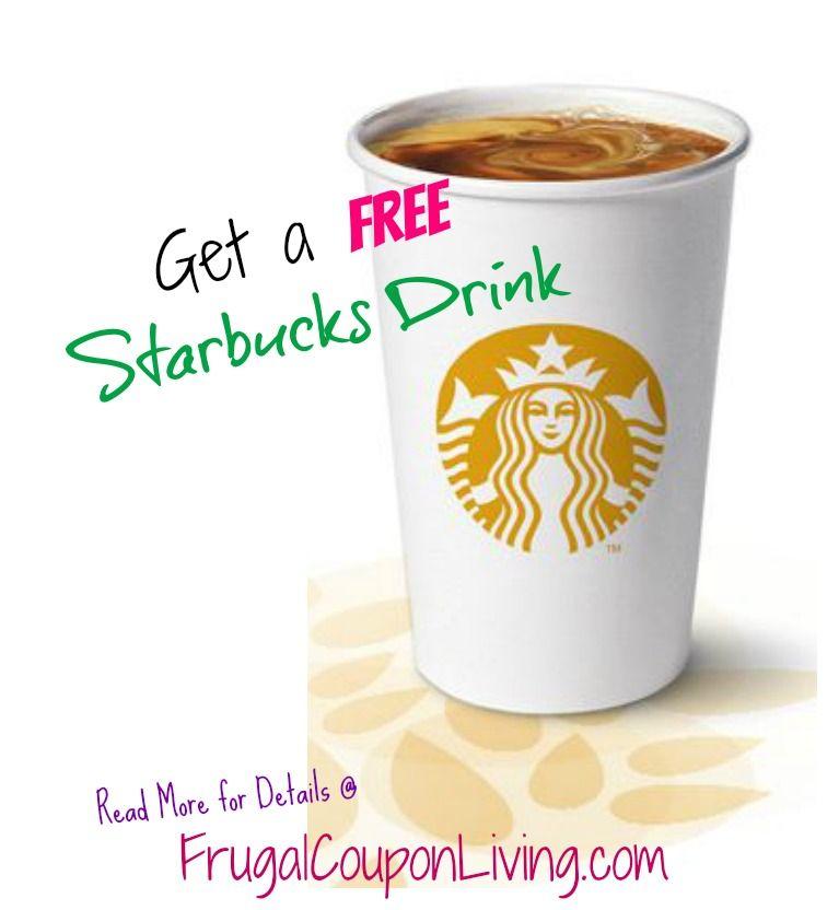 starbucks free drink coupon stop pinterest coupons starbucks