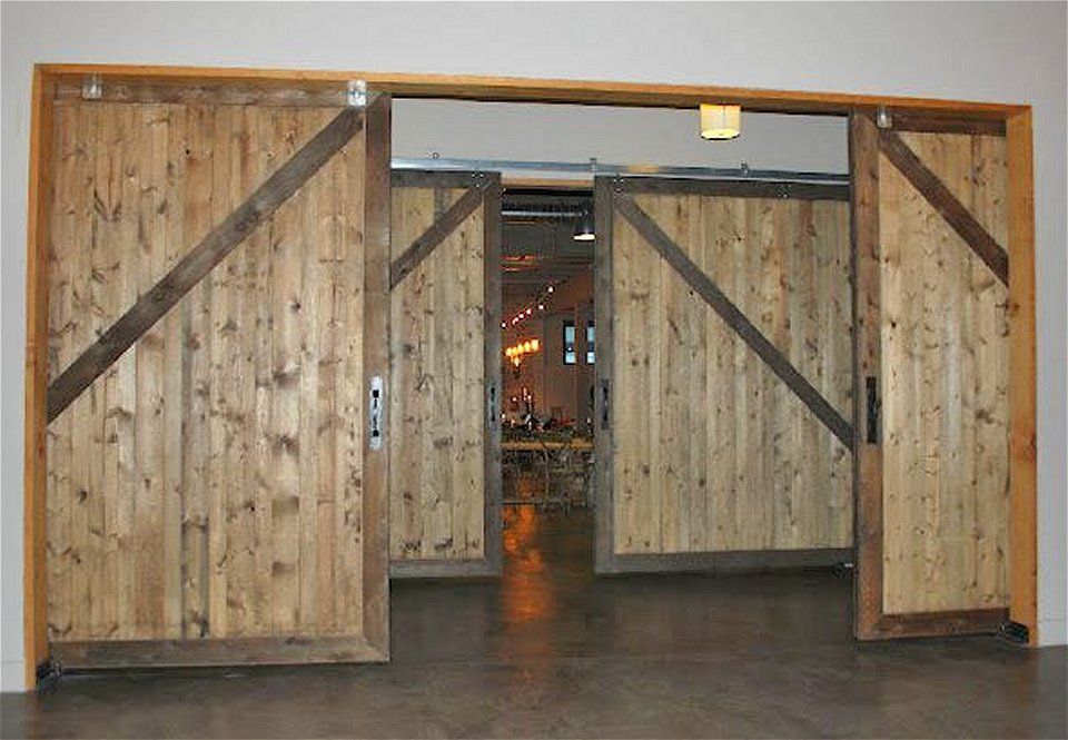 10 X 10 Non Warping Large Wood Sliding Barn Doors 50 Year Guarantee Barn Doors Sliding Glass Doors Patio Sliding Doors Interior