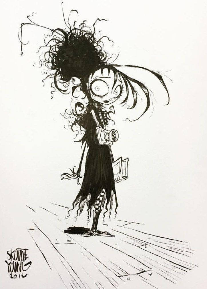 Line Art Styles : Lydia from beetlejuice by skottie young tim burton