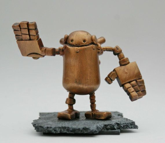 Custom Mini Robot Sculpting Service by Spacecowsmith on Etsy