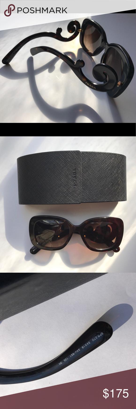 4aa97738e0a ... closeout prada sunglasses rectangular prada sunglasses tortoise color  frame lightly worn. absolutely no scratches.