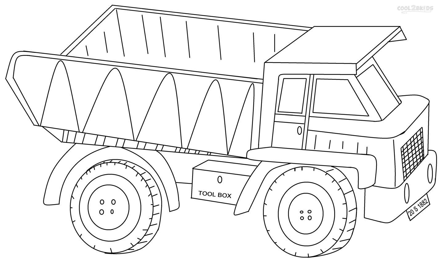 Coloring pictures of cars truck tractors - Printable Dump Truck Coloring Pages For Kids Cool2bkids