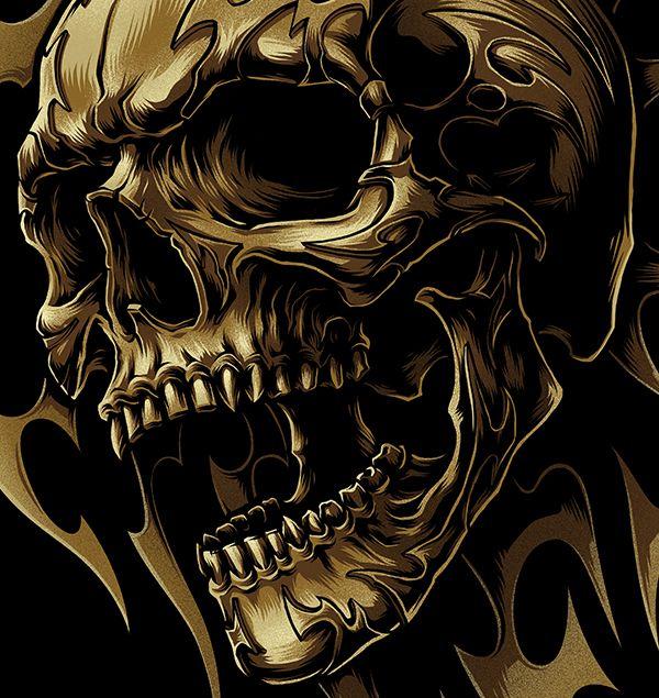 The Tribal On Behance Skull Artwork Skull Wallpaper Skull Wallpaper Iphone Cool 3d skull wallpaper images