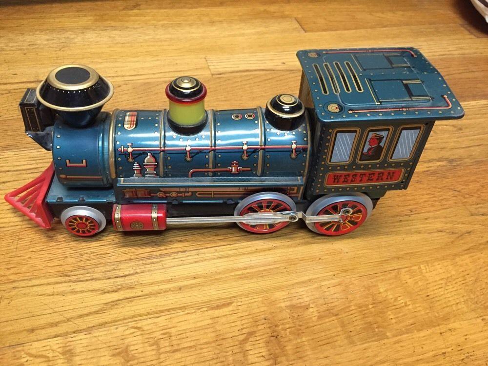 Details about Vintage Tin Trade Mark Modern Toys Western