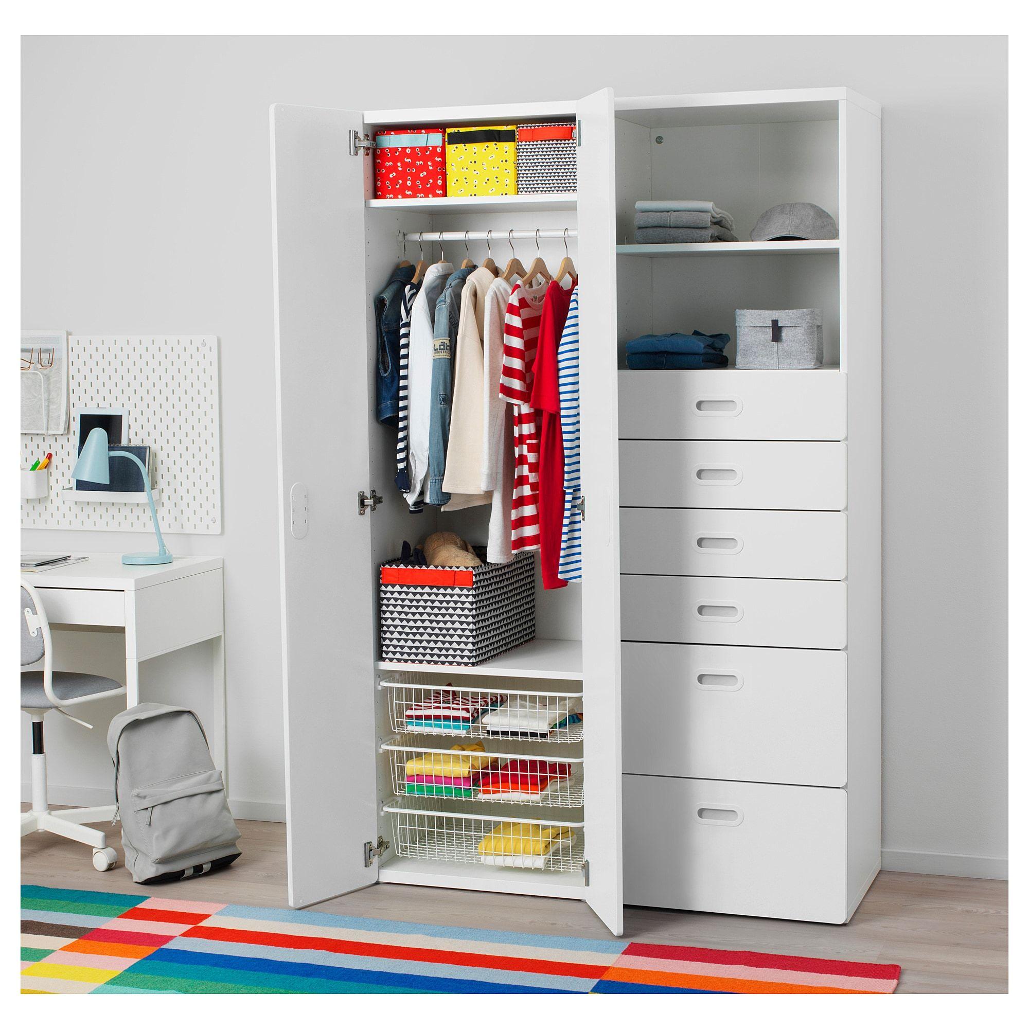 Ikea  Stuva Fritids Wardrobe White, White