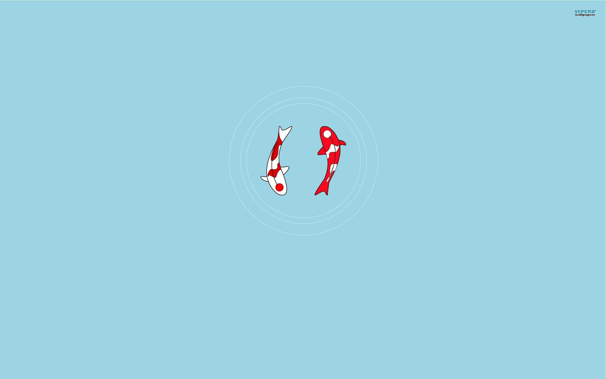 Koi Fish Yin Yang Minimalistic 2560x1600 Wallpaper349656 Jpg 2560 1600 Koi Wallpaper Fish Wallpaper Iphone Yin Yang Koi