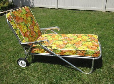 Awe Inspiring Vintage All Original 1950S Bunting Aluminum Chaise Lounge Squirreltailoven Fun Painted Chair Ideas Images Squirreltailovenorg