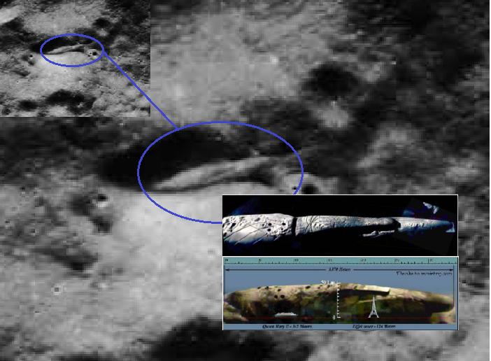 William Rutledge : Apollo 20 enviado en 1976 a la Luna encontró nave alienígena de 4 km de largo y cuerpo de extraterrestre humanoide, edificios y nave triangular