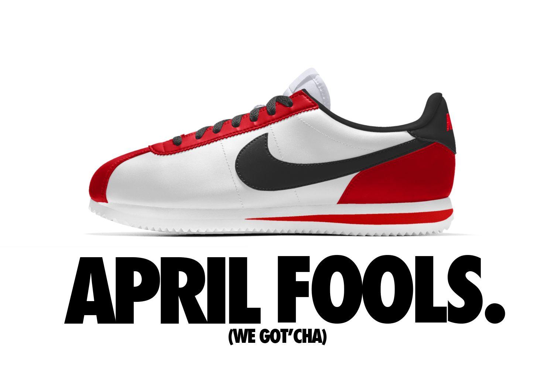 April Fools Nike Air Cortez Prank At Jordanified Com Sneakers Retro Sneakers Vintage Sneakers