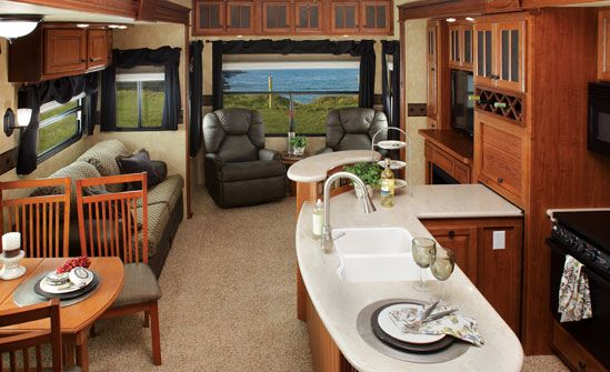 Inside Of The 5th Wheel Jayco Camper Decor