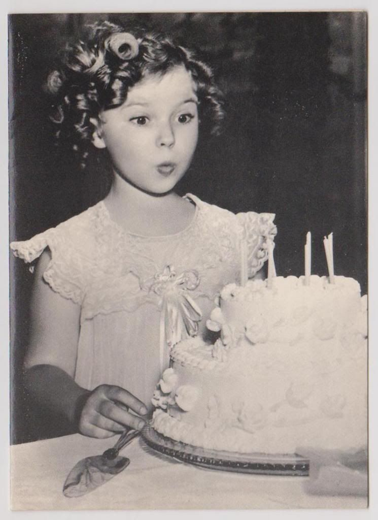 Midnight Movies Shirley Temple Birthday Card