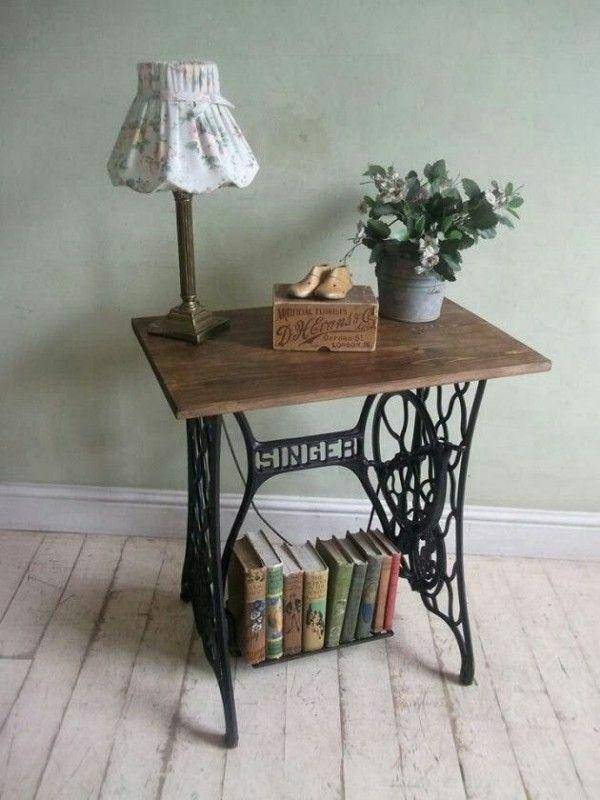 Alte Möbel neu gestalten – die alte Nähmaschine als Vintage Möbel