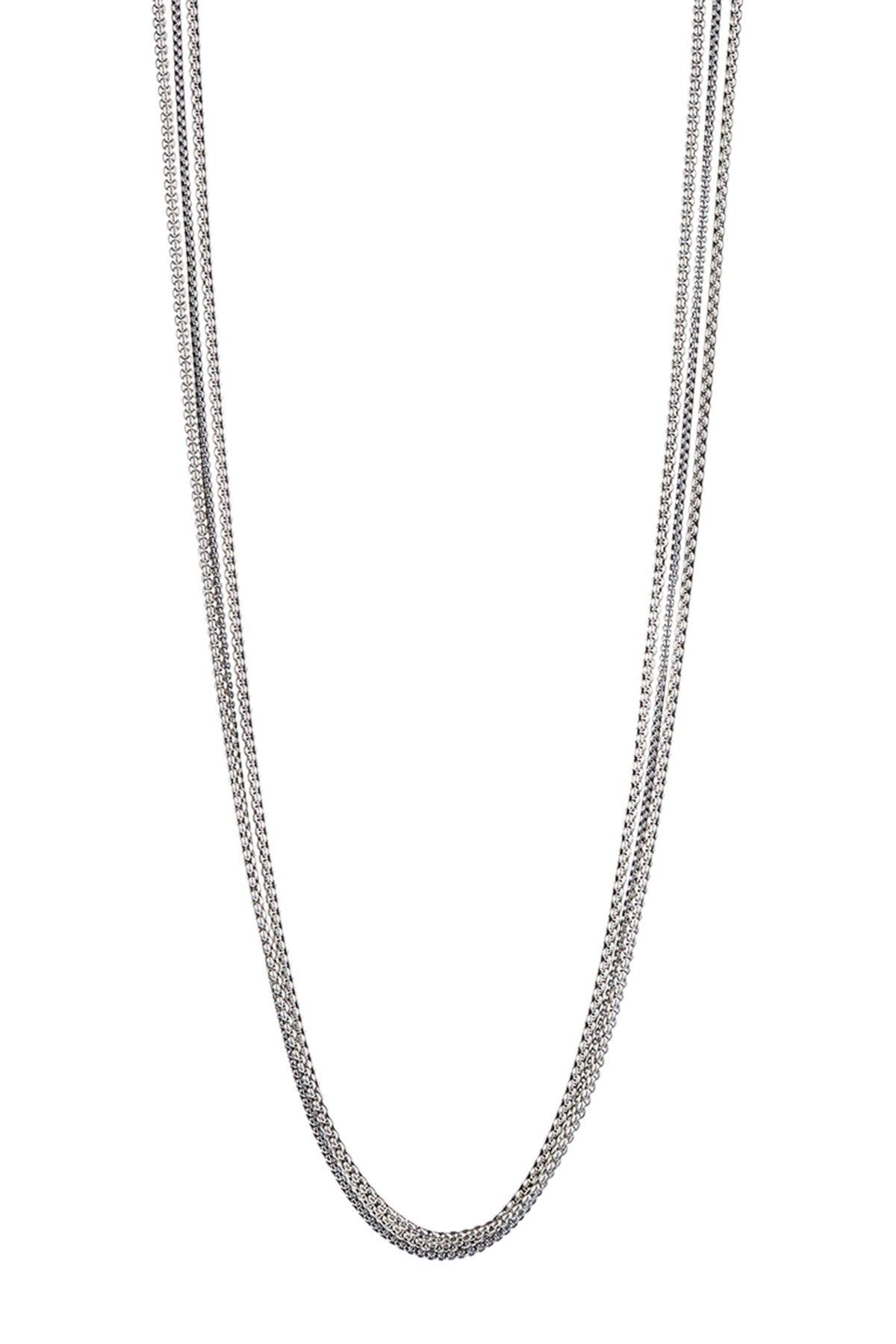 Jenny Bird Billie Sterling Silver Plated Brass Multi Chain Necklace HauteLoo