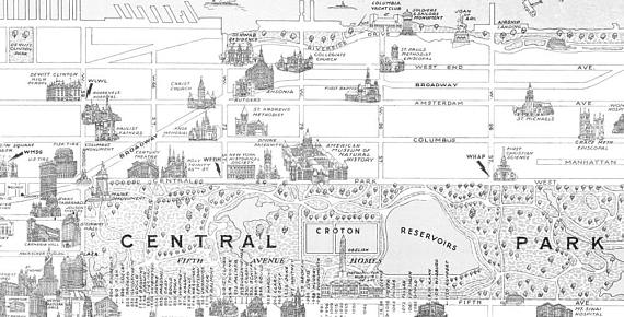 Vintage New York Colouring Map Instant Download Digital Printable