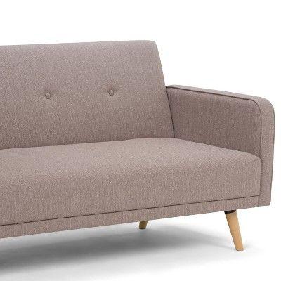 Emma Sleeper Sofa Bed Mocha Linen Look Fabric Wyndenhall