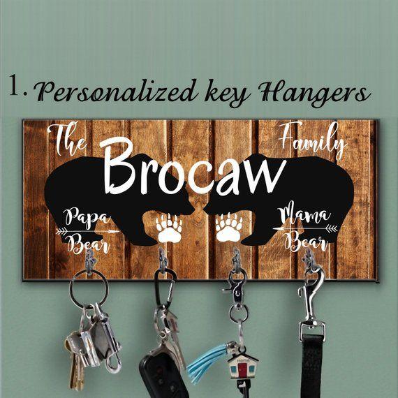 Bear Key Hanger Custom Key Holder For Wall Personalized Key Hanger Made Of Mdf Wall Key Hanger B Key Hanger