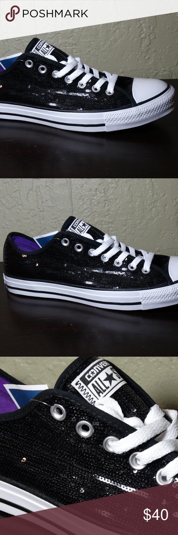 6202f3a39396ed CONVERSE ALL STARS Black Sequins Sneakers Size 12 Black Sequins Sneakers  Made by ConvWerse All Stars Men s size 10 Women s Size 12 New with tags